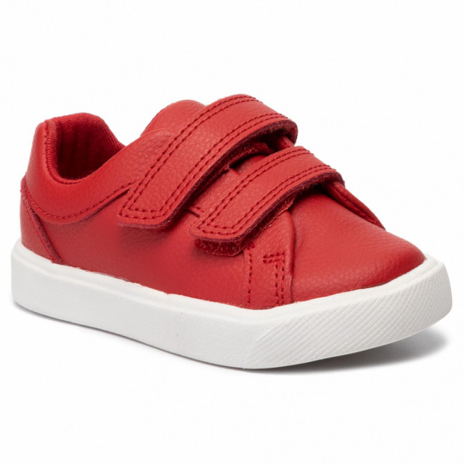 Sneakersy CLARKS - City OasisLo T 261432547  Red Leather
