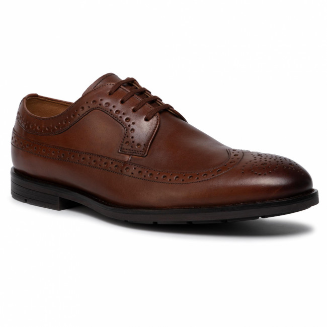 Poltopánky CLARKS - Ronnie Limit 261438137 British Tan Leather