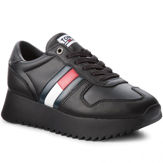 Sneakersy TOMMY JEANS - High Cleated Sneaker EN0EN00288 Black 990
