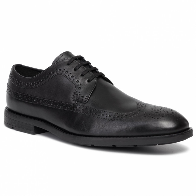 Poltopánky CLARKS - Ronnie Limit 261438117 Black Leather