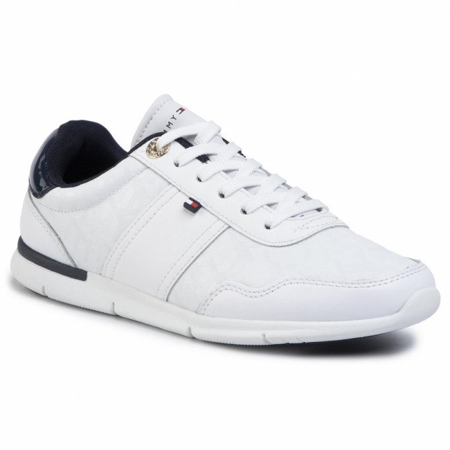 Sneakersy TOMMY HILFIGER - Jacquard Light Sneaker FW0FW04605  White YBS