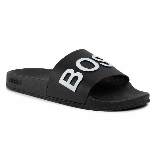 Šľapky BOSS - Bay 50425152 10224455 01 Black 001