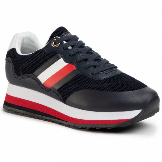 Sneakersy TOMMY HILFIGER - Sporty Tommy Retro Runner FW0FW04688 Desert Sky DW5