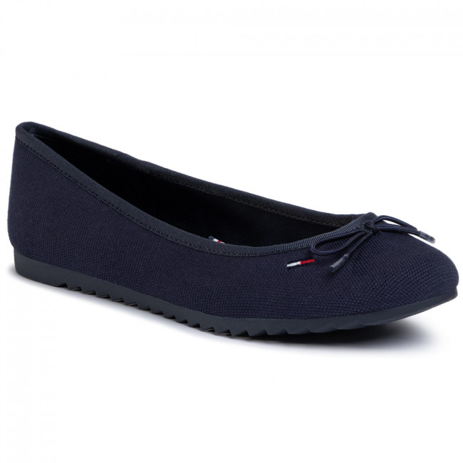 Baleríny TOMMY JEANS - Color Block Ballerina EN0EN00818  Twilight Navy C87
