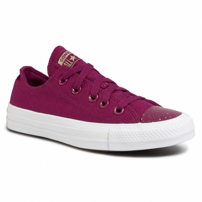 Tramky CONVERSE - Ctas Ox 167227C Rose Maroon/White/Light Gold