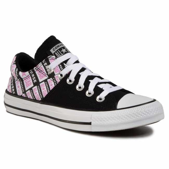 Tramky CONVERSE - Ctas Madison Ox 567021C Black/Peony Pink/White