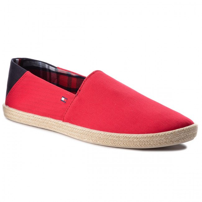 Espadrilky TOMMY HILFIGER - Easy Summer Slip On FM0FM00569  Tango Red 611