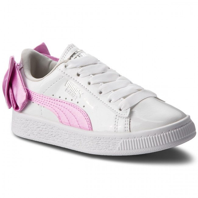 Sneakersy PUMA - Basket Bow Patent Ac Ps 367622 02 Puma White/Orchid/Gray