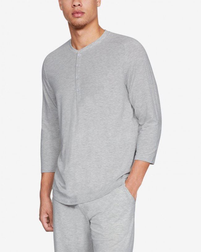 Under Armour Athlete Recovery Sleepwear™ Ultra Comfort Tričko na spanie Šedá