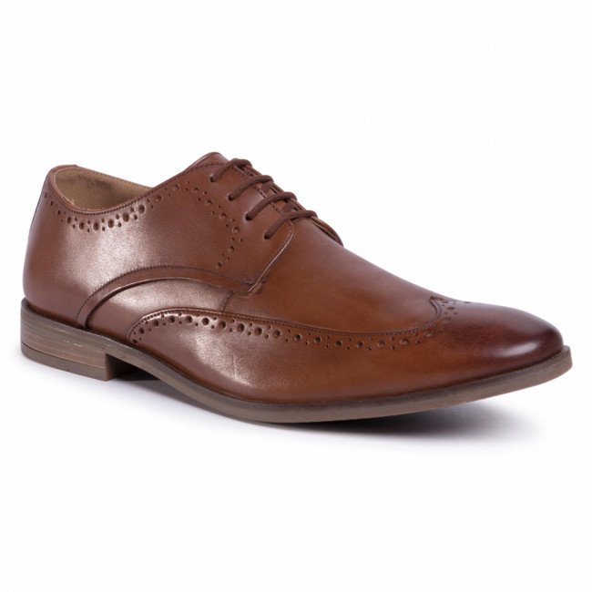 Poltopánky CLARKS - Stanford Limit 261480367 Tan Leather
