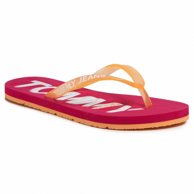 Žabky TOMMY JEANS - Pop Color Beach Sandal EN0EN00849 Blush Red XIF