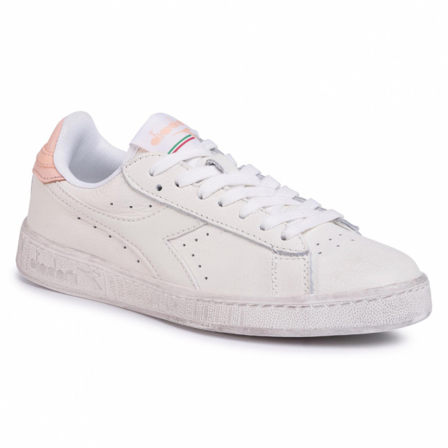Sneakersy DIADORA - Game L Low Waxed 501.160821 01 C8633 White/Pale Peach