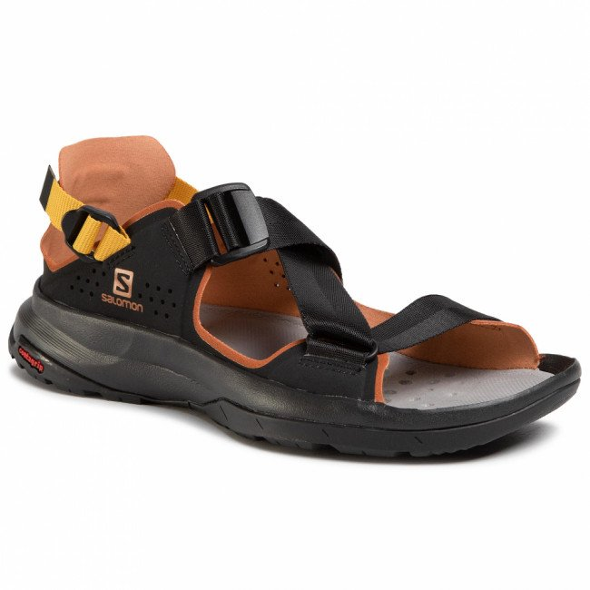 Sandále SALOMON - Tech Sandal 409773 22 M0  Black/Caramel Cafe/Arrowwood