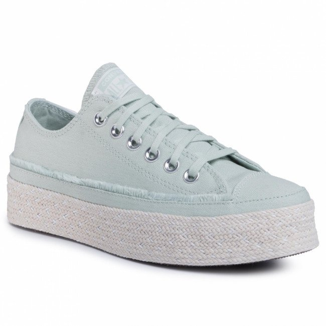 Espadrilky CONVERSE - Ctas Espadrille Ox 567907C  Green Oxide/White/Natural