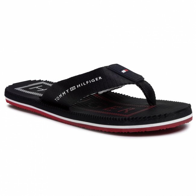 Žabky TOMMY HILFIGER - Massage Footbed Th Beach Sandal FM0FM02695 Desert Sky DW5