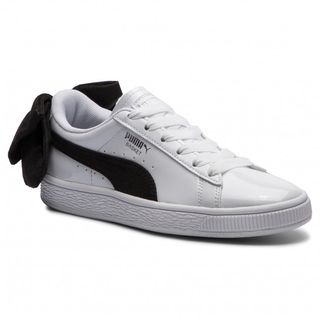 Sneakersy PUMA - Basket Bow Sb Wn's 367353 03 Puma White/Puma Black
