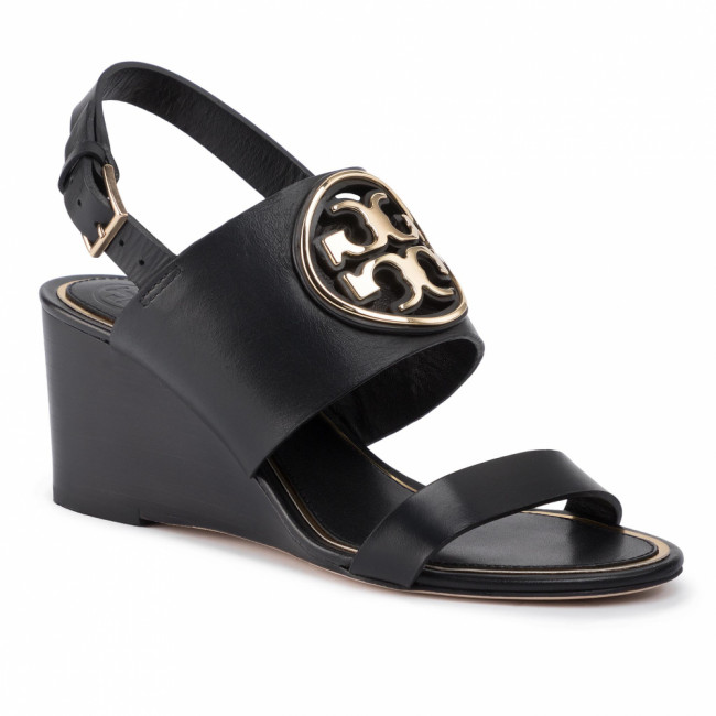 Sandále TORY BURCH - Metal Miller 65Mm Wedge 56115 Perfect Black/Gold 013