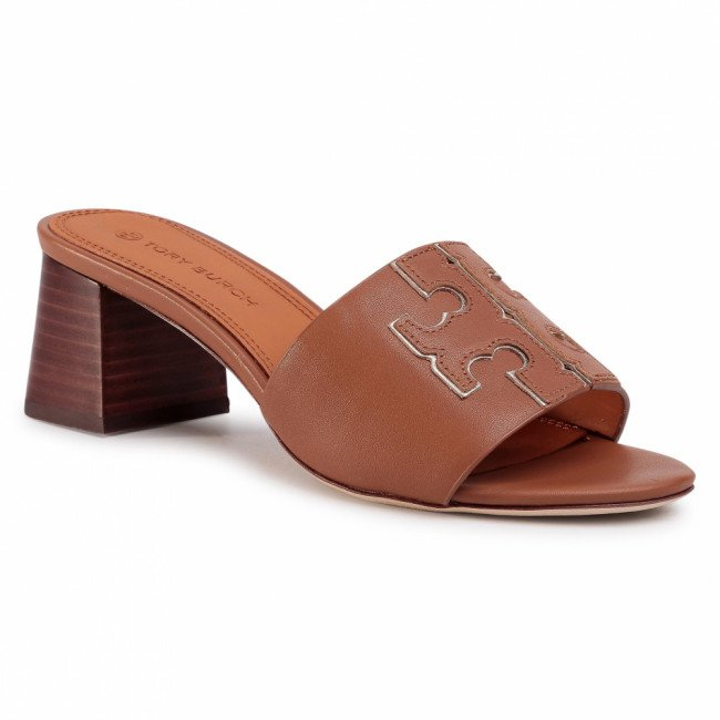 Šľapky TORY BURCH - Ines 55 Mm Slide 66261 Tan/Spark Gold 207