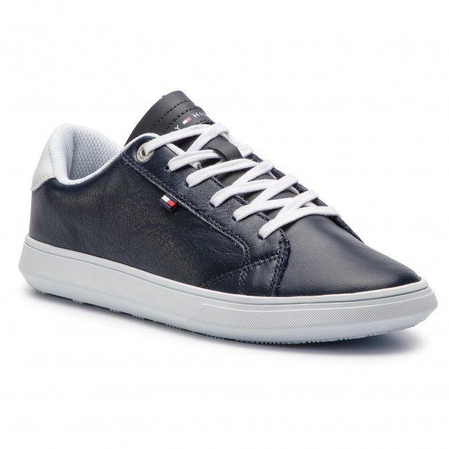 Sneakersy TOMMY HILFIGER - Essential Leather Cupsole FM0FM01987  Midnight 403