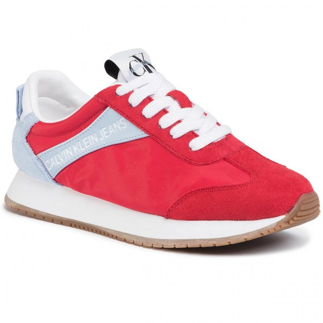 Sneakersy CALVIN KLEIN JEANS - Jill R8527 Racing Red/Chambray