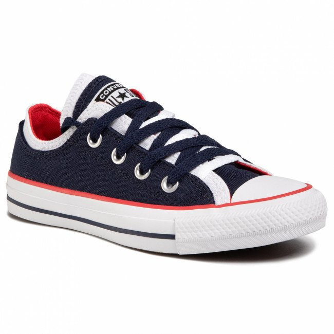 Tramky CONVERSE - Ctas Double Upper Ox 567039C Obsidian/White/University Red