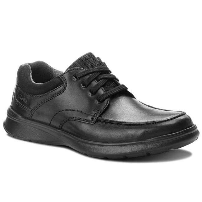Poltopánky CLARKS - Cotrell Edge 261373857  Blk Smooth Leather