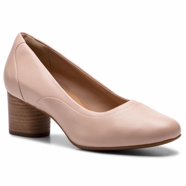 Poltopánky CLARKS - Un Cosmo Step 261409654 Blush Leather