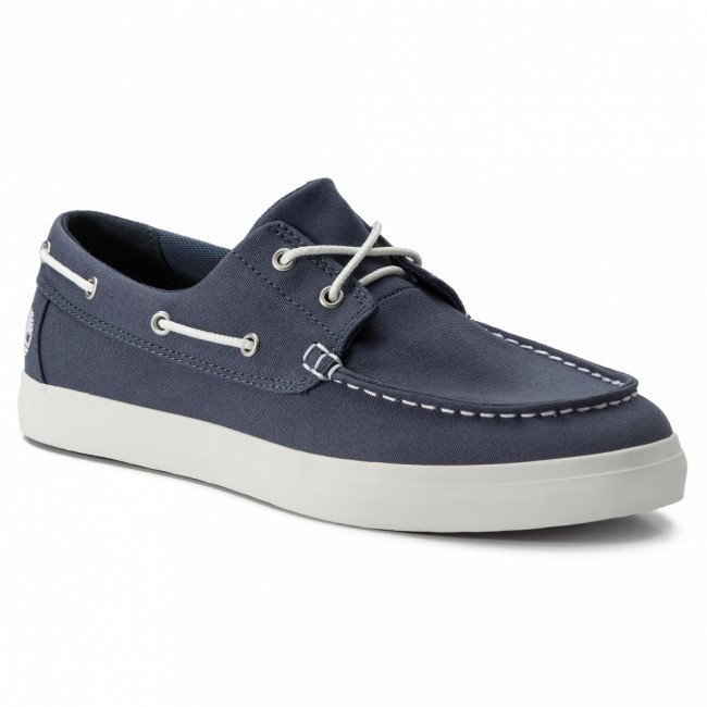 Mokasíny TIMBERLAND - Union Wharf 2 Eye Boat Ox TB0A1XEU4321 Dark Blue Canvas