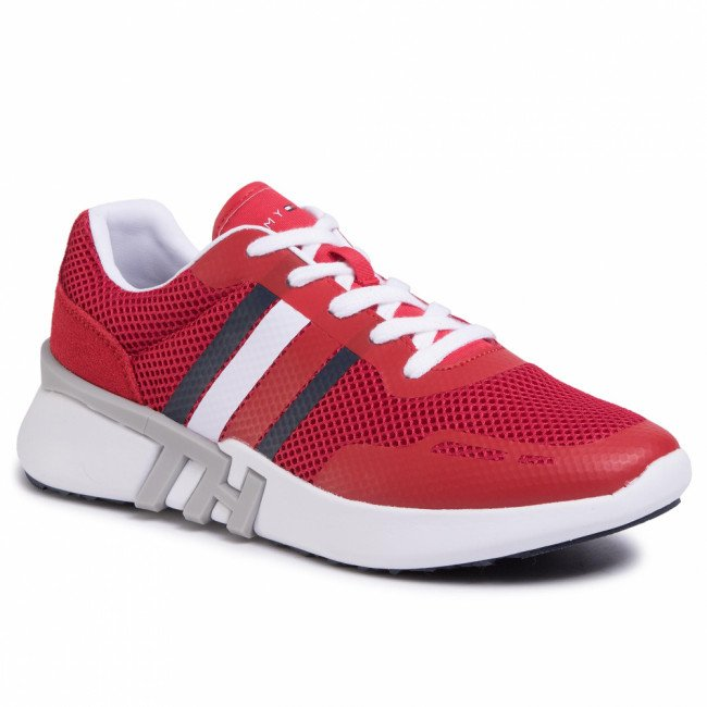 Sneakersy TOMMY HILFIGER - Lightweight Crporate Th Runner FM0FM02661 Tango Red XCN