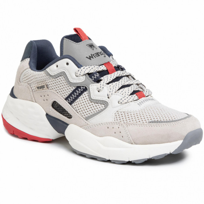 Sneakersy WRANGLER - Iconic 90 Sm WM01101A White/Navy/Red 652