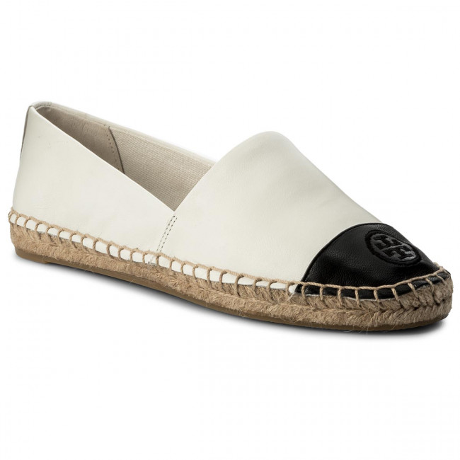 Espadrilky TORY BURCH - Color Block Flat Espadrille 51158649 Ivory/Black 106