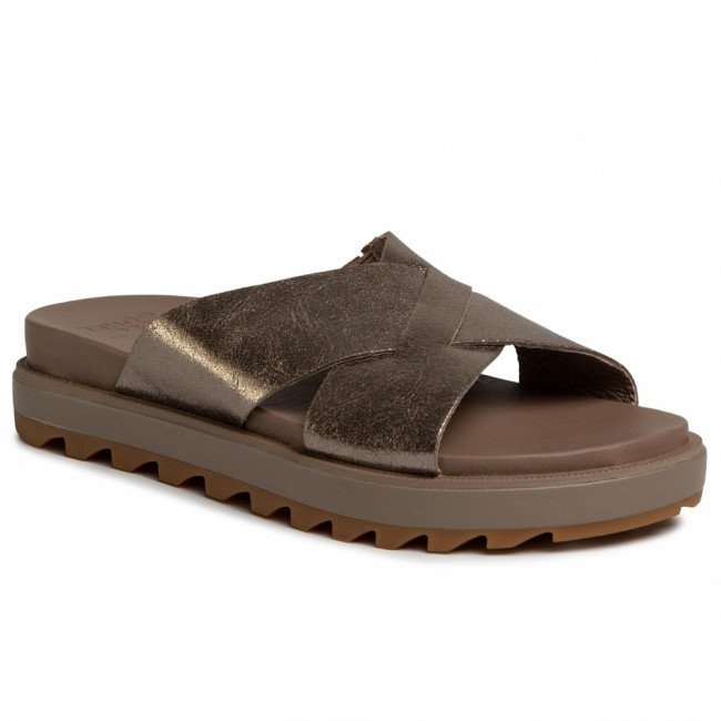 Šľapky SOREL - Roaming Criss Cross Slide NL3604-240 Ash Brown/Marron Cendre