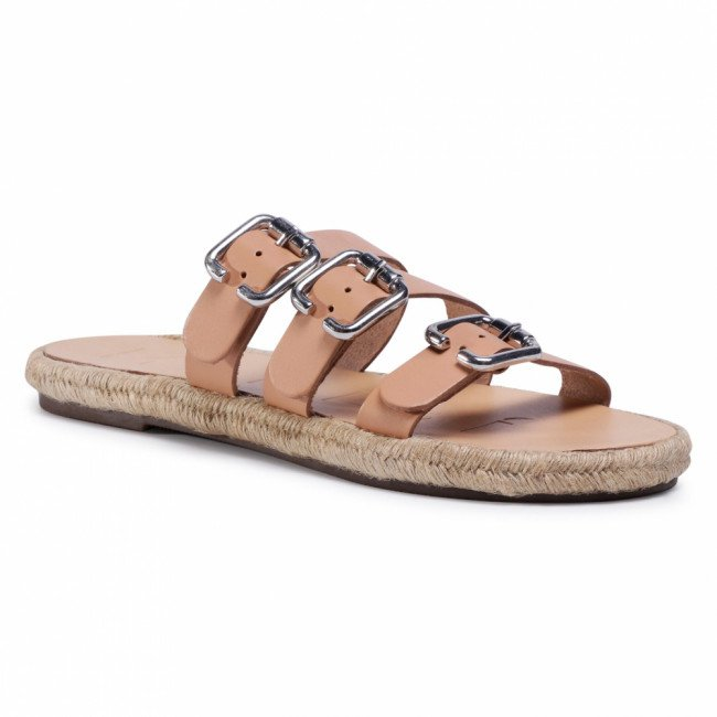 Espadrilky MANEBI - Leather Sandals S 2.0 Y0 Natural W Triple Buckle
