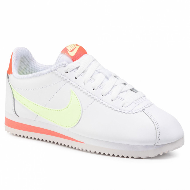 Topánky NIKE - Classic Cortez Leather 807471 116 White/Barely Volt