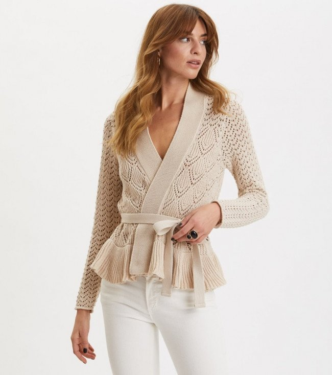Sveter Odd Molly Every Hour Frill Cardigan