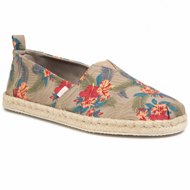 Espadrilky TOMS - Classic 10015006 Oxford Tan  Tropical Print/Rope