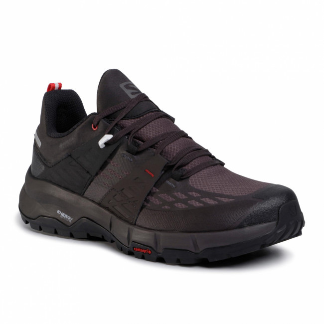 Trekingová obuv SALOMON - Odyssey Gtx GORE-TEX 411449 27 V0 Black/Shale/High Risk Red