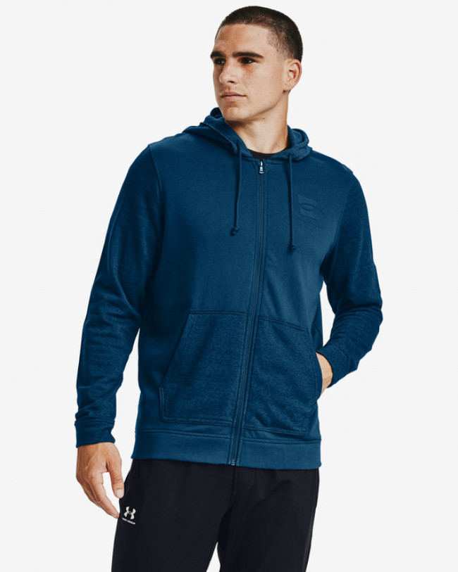 Under Armour Sportstyle Terry SI Full Zip Mikina Modrá