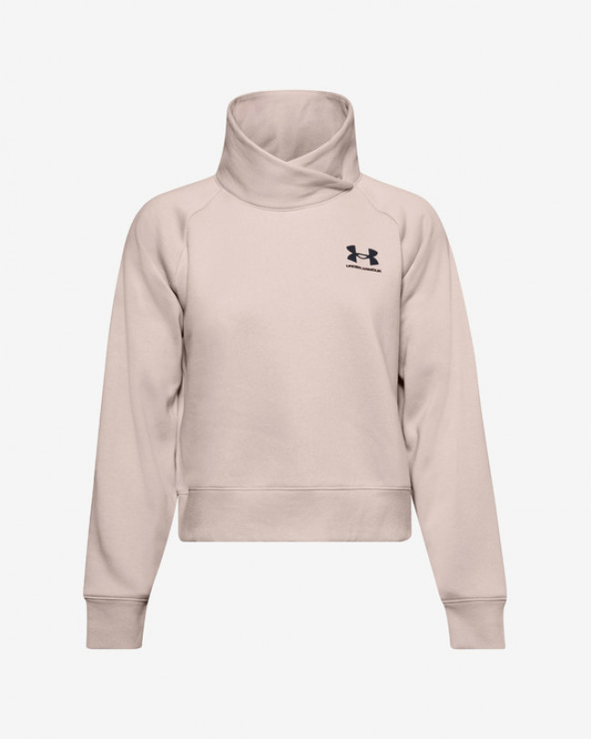 Under Armour Rival Fleece Wrap Neck Mikina Béžová