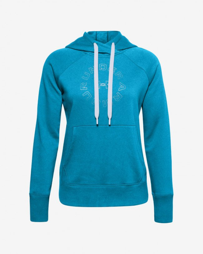 Under Armour Rival Fleece Metallic Mikina Modrá