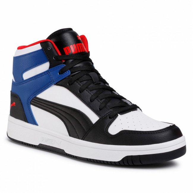 Sneakersy PUMA - Rebound LayUp Sl 369573 18 White/Puma Black/Limoges/Red