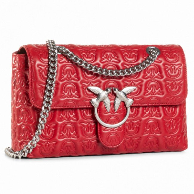 Kabelka PINKO - Love Classic Puff Monogram Cl AI 20-21 PLTT 1P21X0 Y6NX Ruby Red R72