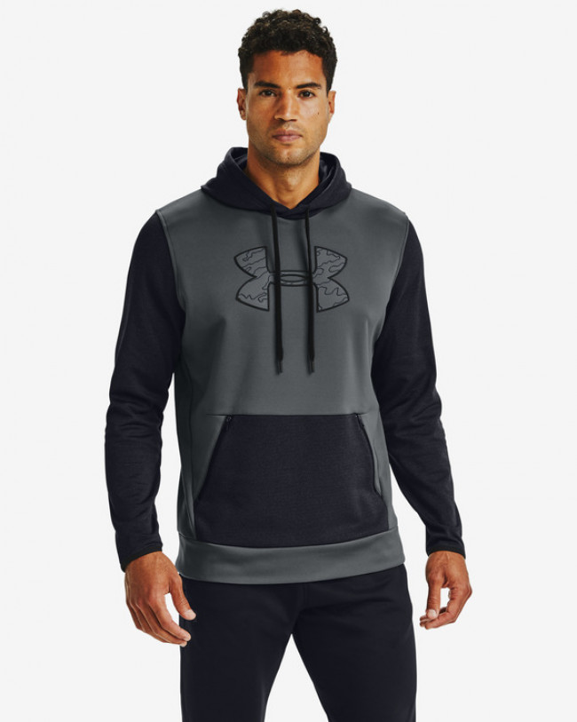 Under Armour Armour Fleece® Textured Big Logo HD Mikina Čierna
