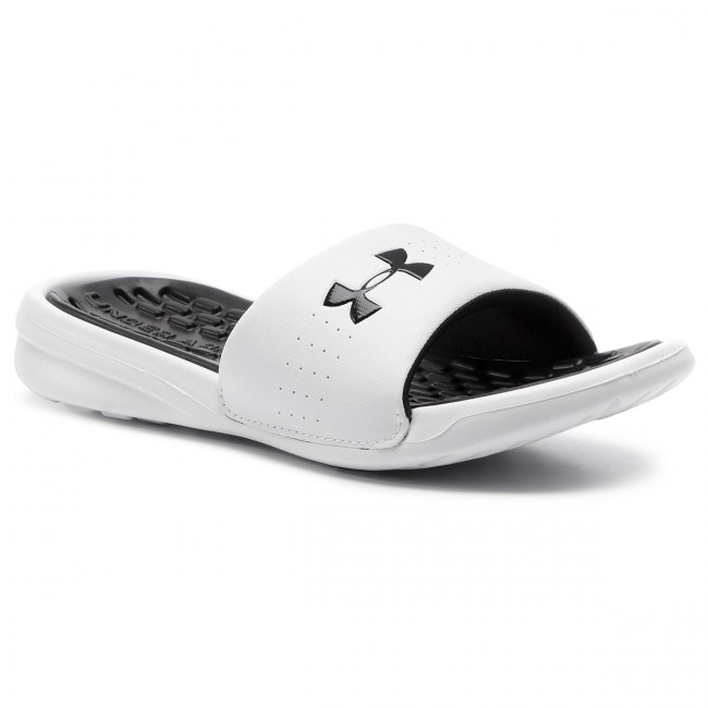 Šľapky UNDER ARMOUR - Ua W Playmaker Fix Sl 3000063-101 Wht