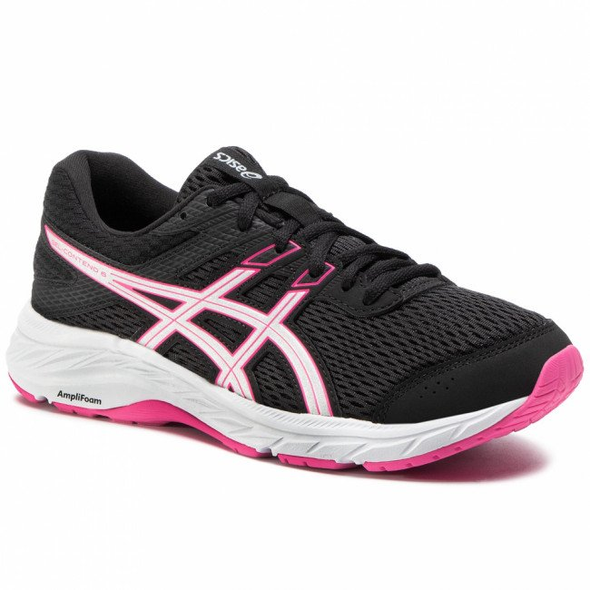 Topánky ASICS - Gel-Contend 6 1012A570 Black/Pink Glo