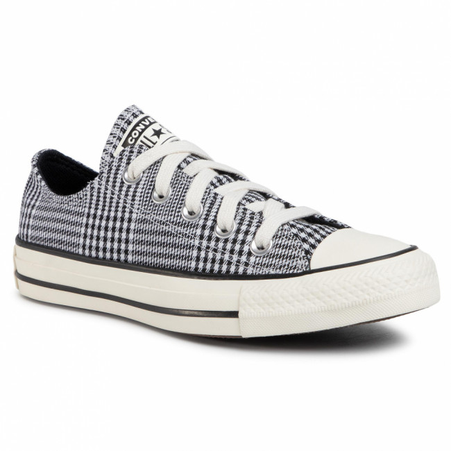 Tramky CONVERSE - Ctas Ox 568897C Black/White/Egret
