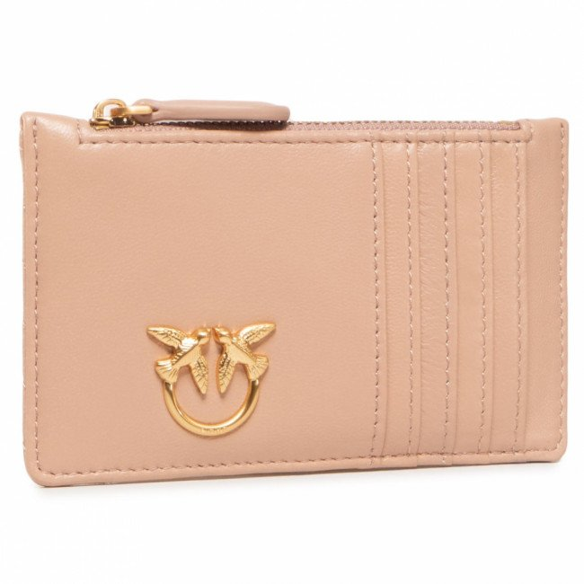 Púzdro na kreditné karty PINKO - Airone Credit Card Holder V Quil AI 20-21 PLTT 1P21UB Y6KT Light Pink Q19