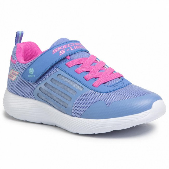 Sneakersy SKECHERS - Dyna-Lights 20268L/BLNP Blue/Neon Pink