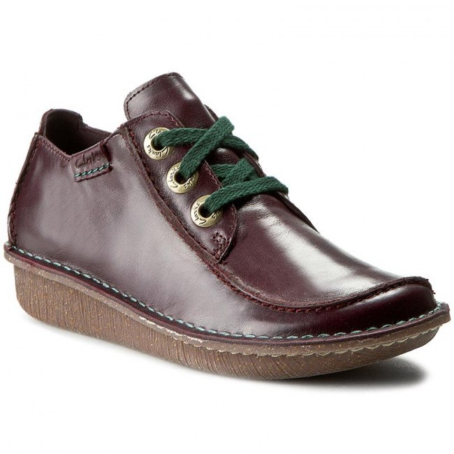 Poltopánky CLARKS - Funny Dream 261195454 Aubergine Lea