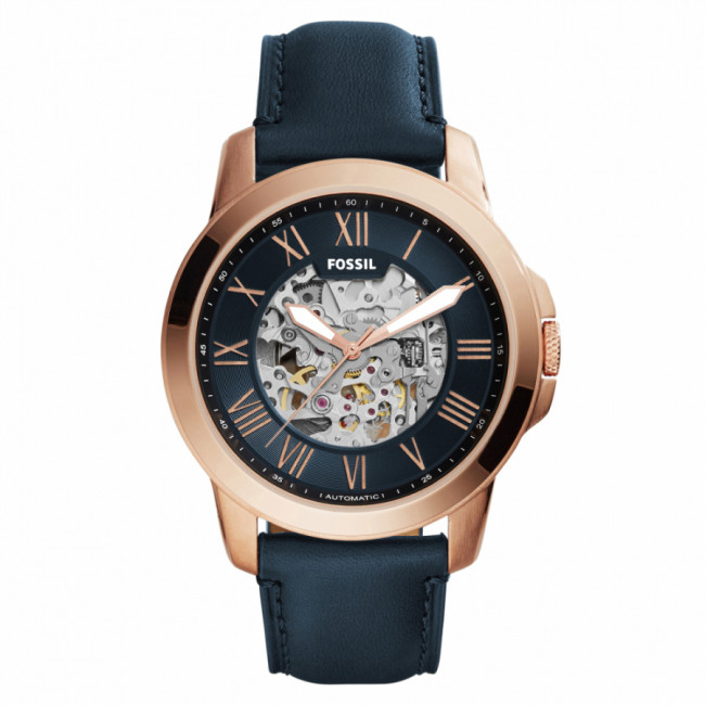 Hodinky FOSSIL - Grant ME3102 Blue/Rose Gold